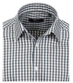001340-750-2- Overhemden-Venti-modern-fit-geruit-zwart-wit-overhemd-100%-katoen-strijkvrij