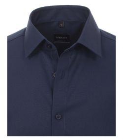 001480-116 Overhemden-Venti-modern-fit-donker-blauw-navy-overhemd-100%-katoen-strijkvrij