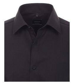 001480-80 Overhemden-Venti-modern-fit-zwart-overhemd-100%-katoen-strijkvrij