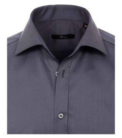 001800-750 Overhemden-Venti-modern-fit-donker-grijs-antraciet-overhemd-100%-katoen-strijkvrij