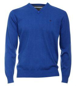 004130-130 casa moda trui v hals blauw kobaltblauw