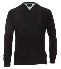 004130-80 casa moda v hals trui zwart