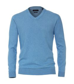 004430-127 casa moda blauw pullover pima katoen