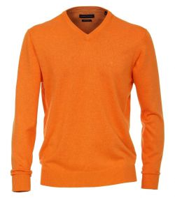 004430-480 casa moda pullover oranje hup holland pima katoen v hals trui