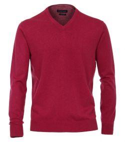 004430-968 casa moda pullover pruimen kleur v-hals pima katoen pruim