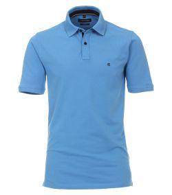 004470-100 Casa Moda blauw hemelblauw korte mouw polo