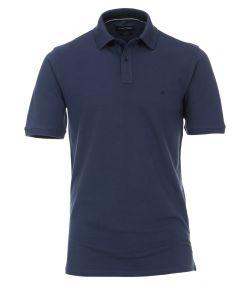 004470-125 Casa Moda donker blauwe korte mouw polo in top kwaliteit