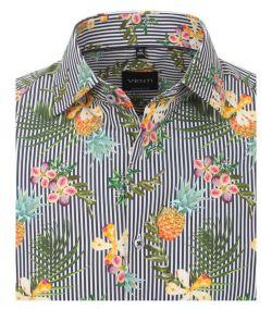 103368400-101 venti ananas verticaal gestreept overhemd all over print