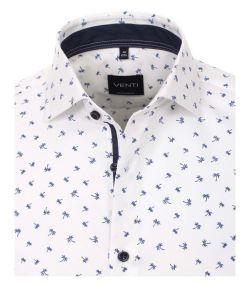 103368800-100 venti overhemd palmbomen wit en donkerblauw modern fit