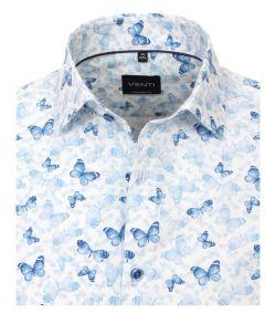 103369100-100 Venti overhemd vlinder all over print vlinders overhemd