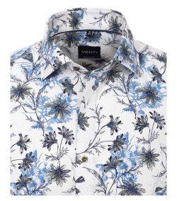 103369400-100 blauw groen all over print overhemd Venti modern fit