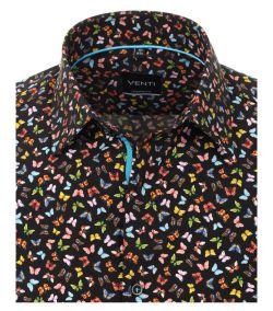 103370400-800 venti vlinders print overhemd vrolijk kleuren modern fit