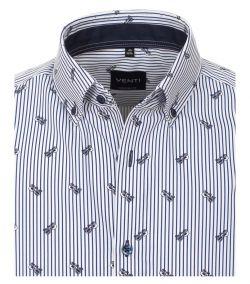 103370800-100 Venti luxe overhemd gestreept brillen zonnebrillen print button down
