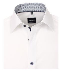 103412600-000 Venti wit overhemd strijkvrij kent kraag enkel manchetten business chique trendy en modern overhemd