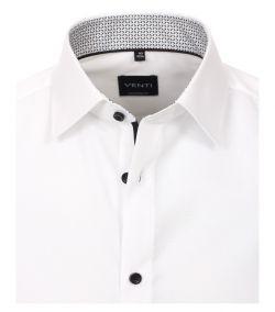 103412600-001 Venti wit overhemd strijkvrij kent kraag enkel manchetten business chique trendy en modern overhemd