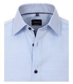 103412600-115 Venti lichtblauw overhemd strijkvrij kent kraag enkel manchetten business chique trendy en modern licht blauwe overhemd