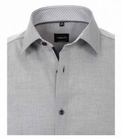 103412600-705 Venti lichtgrijs overhemd strijkvrij kent kraag enkel manchetten business chique trendy en modern overhemd