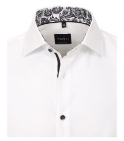 103412900-001 Venti wit  dobby oxford structuur weving 100% katoen strijkvrij zwarte knopen luxe en trendy