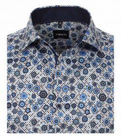 103450700-100 Venti donker blauw print retro overhemd