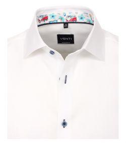 103458700-000 Venti wit overhemd strijkvrij kent kraag modern fit oxford 100% katoen