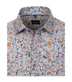 103494900-700 venti gebloemd print overhemd op oxford stof kent kraag 100% katoen