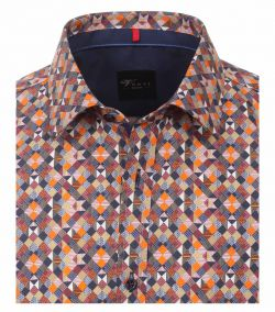 162543200-450-Overhemden-Venti-modern-fit-geruit-blokjes-oranje-blauw-bruin-paars-wit-overhemd-100%-katoen-strijkvrij