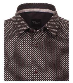 162544700-200-Overhemden-Venti-modern-fit-zwart-rood-wit-rondjes-punten-overhemd-100%-katoen