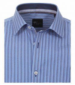162545200-100-Overhemden-Venti-modern-fit-punten-licht-donker-blauw-wit-overhemd-100%-katoen