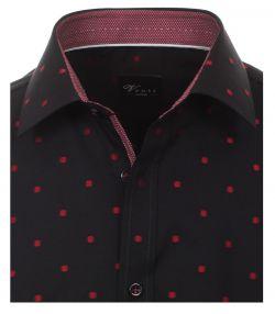 162560700-400 venti overhemd zwart met rode punten