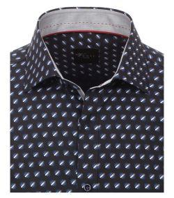 162560800-100-Overhemden-Venti-modern-fit-monster-donker-licht-blauw-wit-overhemd-100%-katoen