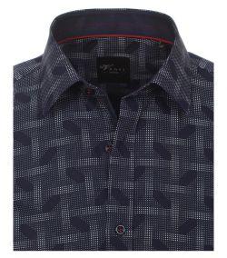 162561300-100-Overhemden-Venti-modern-fit-stippen-donker-blauw-wit-overhemd-100%-katoen