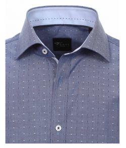 162566000-101-Overhemden-Venti-modern-fit-stippen-blauw-wit-overhemd-100%-katoen