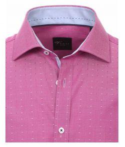162566000-401 Overhemden-Venti-modern-fit-stippen-roze-wit-overhemd-100%-katoen