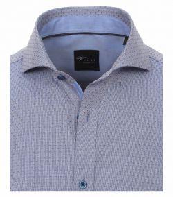 162568400-101 Overhemden-Venti-modern-fit-stippen-blauw-overhemd-100%-katoen