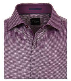 162615900-950-2_1-Overhemden-Venti-modern-fit-stippen-geruit-paars-wit-overhemd-100%-katoen-strijkvrij
