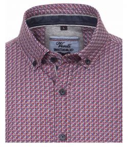 162623400-404 Overhemden-Venti-modern-fit-bloemen-paars-wit-overhemd-100%-katoen