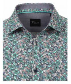 172660200-300 Overhemden-Venti-modern-fit-monster-blauw-wit-roze-groen-mint-overhemd-100%-katoen