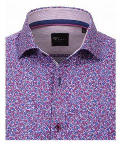 172661900-950 Overhemden-Venti-modern-fit-bloemen-paars-blauw-wit-overhemd-100%-katoen