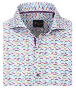 172663200-400 Overhemden-Venti-modern-fit-vissen-paars-roze-geel-rood-groen-aqua-blauw-wit-overhemd-100%-katoen