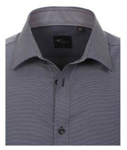 172678600-750 Overhemden-Venti-modern-fit-grijs-antraciet-overhemd-100%-katoen-strijkvrij