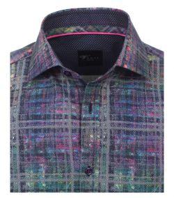 172812000-300 Overhemden-Venti-modern-fit-bont-monster-geel-roze-groen-blauw-grijs-geruit-strepen-punten-overhemd-100%-katoen