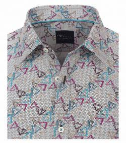 172821800-900 Overhemden-Venti-modern-fit-blauw-paars-grijs-driehoeken-overhemd-100%-katoen
