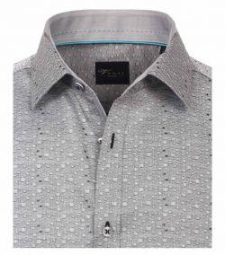 172822500-700 Overhemden-Venti-modern-fit-grijs-punten-waterbubbels-overhemd-100%-katoen