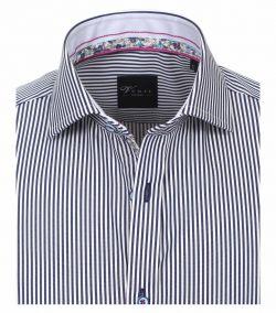 182980000-100 Overhemden-Venti-modern-fit-blauw-wit-navy-gestreept-overhemd-100%-katoen-strijkvrij