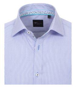 182980800-100 Overhemden-Venti-modern-fit-licht-baby-blauw-wit-gestreept-bloemen-overhemd-100%-katoen