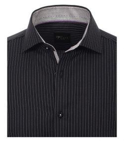 183035600-800 Venti-modern-fit-zwart-wit-gestreept-overhemd-100%-katoen