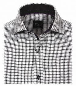 183036000-800 Overhemden-Venti-modern-fit-zwart-wit-overhemd-100%-katoen