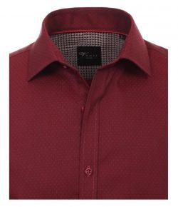 183083900-400 venti overhemd bordeaux kleur met stipjes