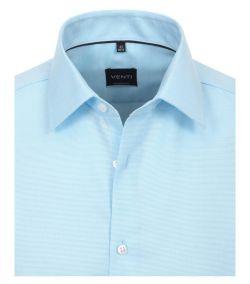 193158000-350 Overhemden-Venti-modern-fit-structuur-licht-baby-blauw-aqua-wit-overhemd-100%-katoen-strijkvrij