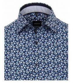 193217700-100-Overhemden-Venti-modern-fit-licht-donker-blauw-bloemen-overhemd-100%-katoen